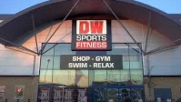 The entrance of a DW fitness gym